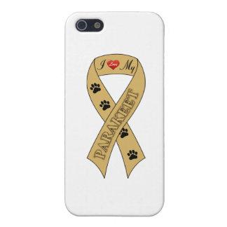 Amo mi cinta del Parakeet iPhone 5 Protector