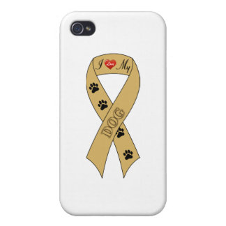 Amo mi cinta del perro iPhone 4/4S funda