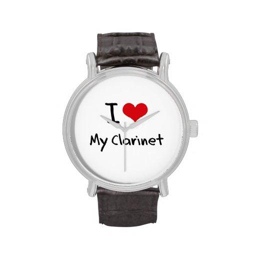Amo mi Clarinet Relojes De Pulsera