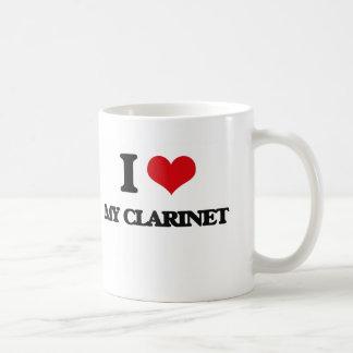 Amo mi Clarinet Taza Básica Blanca