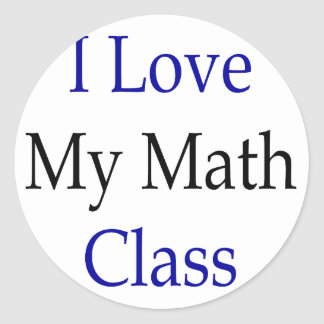 Amo mi clase de la matemáticas pegatina