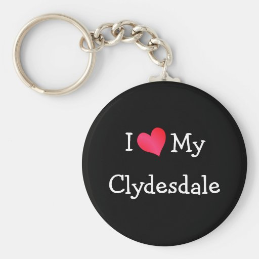 Amo mi Clydesdale Llavero Redondo Tipo Pin