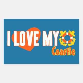 ¡Amo mi Coastie! Pegatina Rectangular
