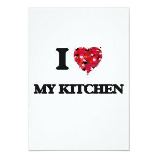 """Amo mi cocina invitación 3.5"""" x 5"""""""