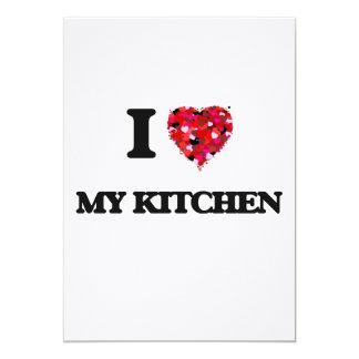 """Amo mi cocina invitación 5"""" x 7"""""""