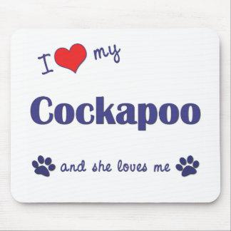 Amo mi Cockapoo (el perro femenino) Tapete De Raton