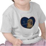 ¡Amo mi Cockatiel! Camiseta del niño del corazón