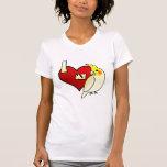 Amo mi Cockatiel de Lutino Camisetas