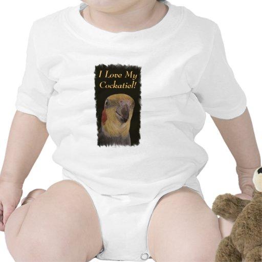 ¡Amo mi Cockatiel! Enredadera del niño del pájaro Trajes De Bebé