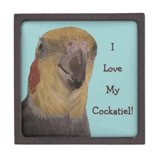 ¡Amo mi Cockatiel! Pájaro Cajas De Joyas De Calidad