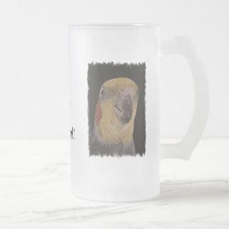 ¡Amo mi Cockatiel! Pájaro Taza De Cristal