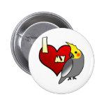 Amo mi Cockatiel Pin Redondo 5 Cm