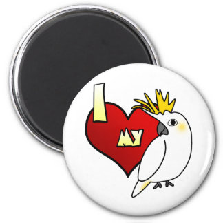 Amo mi Cockatoo cítrico Imán Redondo 5 Cm
