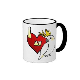 Amo mi Cockatoo cítrico Taza De Dos Colores