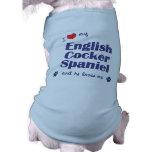 Amo mi cocker spaniel inglés (el perro masculino) camisetas de perro