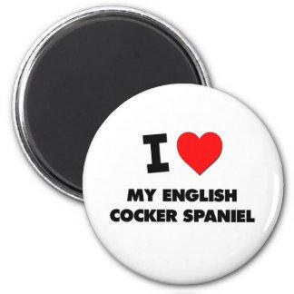Amo mi cocker spaniel inglés imán para frigorífico