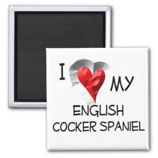 Amo mi cocker spaniel inglés iman para frigorífico