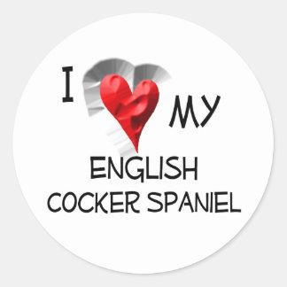 Amo mi cocker spaniel inglés pegatinas