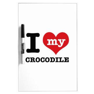 Amo mi cocodrilo pizarra blanca