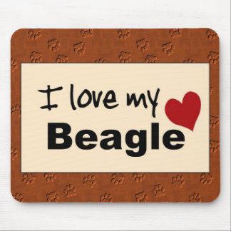Amo mi cojín de ratón del beagle mousepads