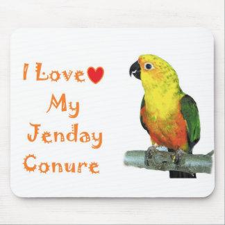 Amo mi cojín de ratón del ordenador de Jenday Conu Mouse Pad