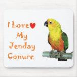 Amo mi cojín de ratón del ordenador de Jenday Conu Alfombrillas De Ratones