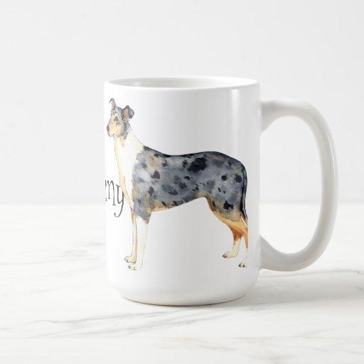 Amo mi collie liso taza de café