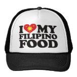 Amo mi comida filipina gorras de camionero