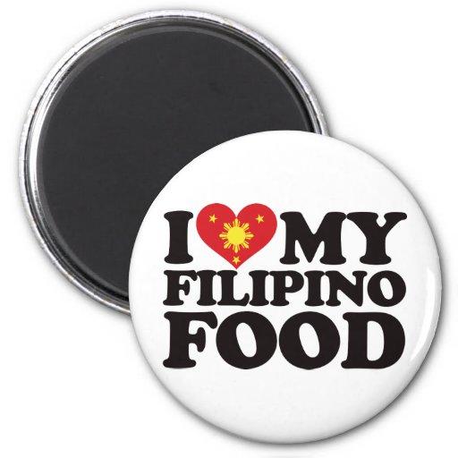 Amo mi comida filipina iman de nevera