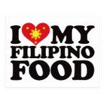 Amo mi comida filipina tarjetas postales