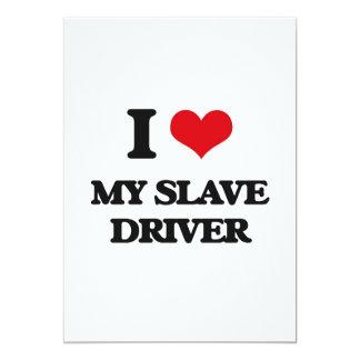 """Amo mi conductor auxiliar invitación 5"""" x 7"""""""
