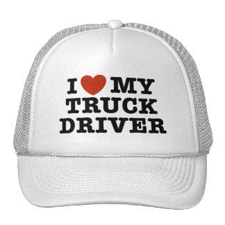 Amo mi conductor de camión gorro de camionero