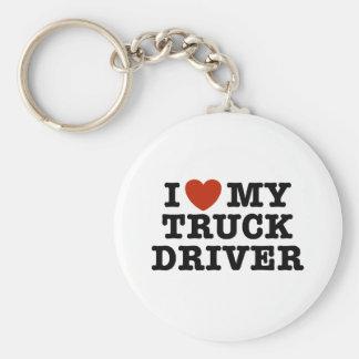 Amo mi conductor de camión llaveros personalizados