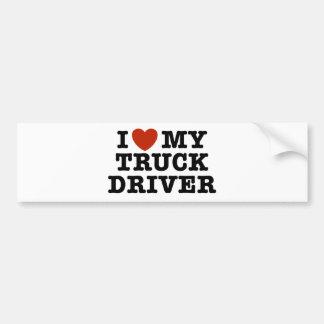 Amo mi conductor de camión pegatina para auto