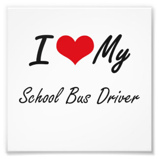 Amo mi conductor del autobús escolar cojinete