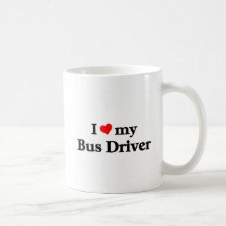 Amo mi conductor del autobús taza
