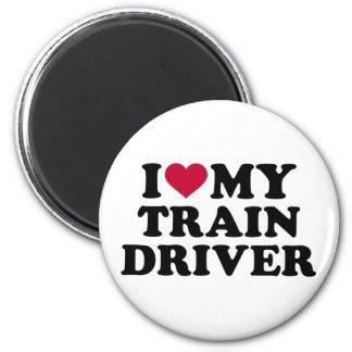 Amo mi conductor del tren imán redondo 5 cm