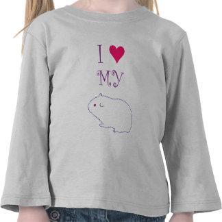 Amo mi conejillo de Indias Camisetas