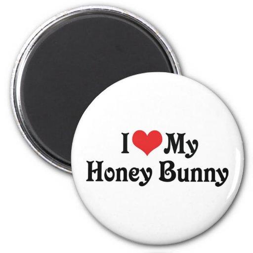 Amo mi conejito de la miel iman