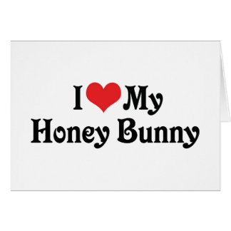 Amo mi conejito de la miel tarjetón