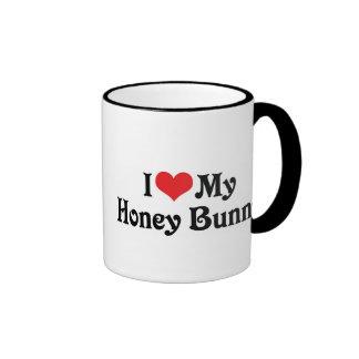 Amo mi conejito de la miel tazas