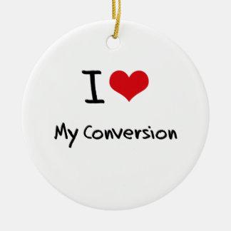 Amo mi conversión ornamento de navidad