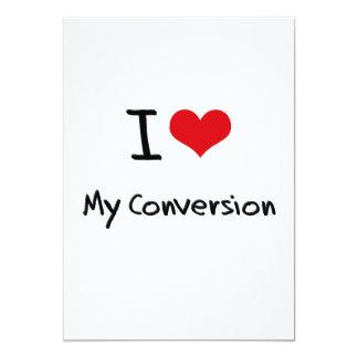 """Amo mi conversión invitación 5"""" x 7"""""""