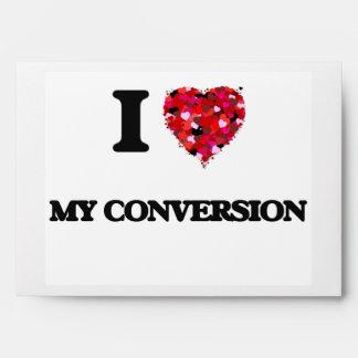 Amo mi conversión sobres