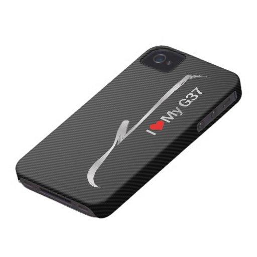 Amo mi convertible G37 Case-Mate iPhone 4 Cobertura