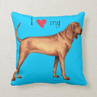 Amo mi Coonhound de Redbone Cojín