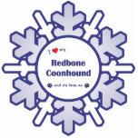 Amo mi Coonhound de Redbone (el perro femenino) Escultura Fotográfica