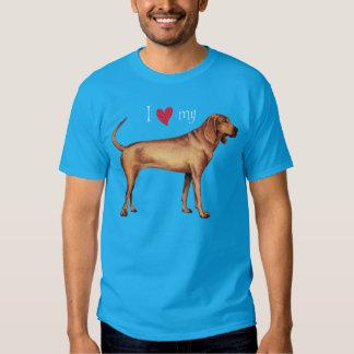 Amo mi Coonhound de Redbone Playeras