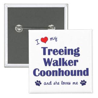 Amo mi Coonhound del caminante de Treeing (el perr Pin