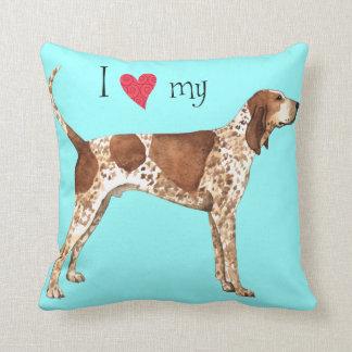 Amo mi Coonhound del inglés americano Cojin